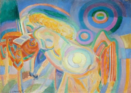 Delaunay, Robert: Nude Woman Reading. Fine Art Print/Poster. Sizes: A4/A3/A2/A1 (002181)